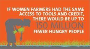 women farming tools